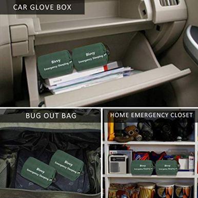 Zmoon-Emergency-Sleeping-Bag-2-Pack-Lightweight-Survival-Sleeping-Bags-Thermal-Bivy-Sack-Portable-Emergency-Blanket-Survival-Gear-for-Camping-Hiking-Outdoor-Activities
