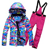 Women's Ski Jacket Snowboard Windproof Jacket for Women Waterproof Snowsuit Set Colorful ski Clothes Coat-Q 3XL