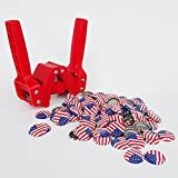 Red Baron Bottle Capper with American Flag Crown Oxygen Barrier Beer Bottle Caps (144 Ct)