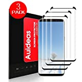 Galaxy S8 Screen Protector[3-Pack],Auideas [Case Friendly] Ultra Clear 3D PET HD Screen Protector Film for Samsung Galaxy S8 Black.