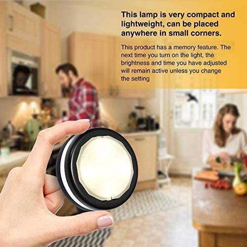 Elfeland Puck Lights with Remote Wireless LED Color Changing Puck Lightings, Dimmable Under Cabinet Lighting, Puck Lights Battery Operated, Closet Lights Under Counter Lighting Stick On Lights(6 Pack) 18