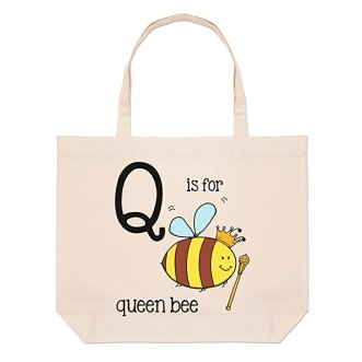 Letter Large Beach Tote Bag