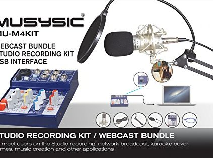 MUSYSIC-Studio-Recording-Kit-Webcast-Bundle-4-Channel-Mixer-with-USB-Interface-MU-M4KIT