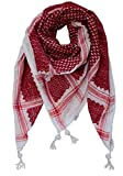 Fashion Arab Shemagh Keffiyeh Scarf with Headband Army Military Desert Tactical (Red)