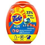 Tide Pods Liquid Laundry Detergent Pacs Original, 96 Count (Packaging May Vary)