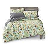 Full/Queen Woodland Creatures Duvet Cover Set with 2 Pillowcases for Kids Bedding - Double Brushed Ultra Microfiber Luxury Set by Where The Polka Dots Roam (L 90in x W 92in) ...