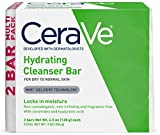 CeraVe Hydrating Cleanser Bar   2 Pack (4.5 Ounce)   Soap-Free Body and Face Cleanser Bar   Fragrance Free and Non-Irritating