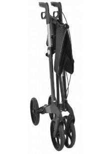 Premium Rollator Mobilex Buffalo, Aluminium, faltbar, mit Vollausstattung, Sitzfläche, Rückengurt, Tasche, Alurollator bis 200 kg