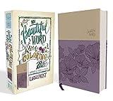 NIV, Beautiful Word Coloring Bible, Large Print, Leathersoft, Purple/Tan