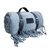 Beautiful Soft-Warm Picnic Blanket, Beach Blanket, Extra Large, Folding, Picnic mat, Waterproof, Outdoor, Gift Box, for Picnic Basket (Grey)