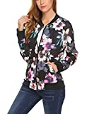 Product review for Soteer Women's Zipper Quilted Side Pockets With Press Stud Lightweight Bomber Jacket