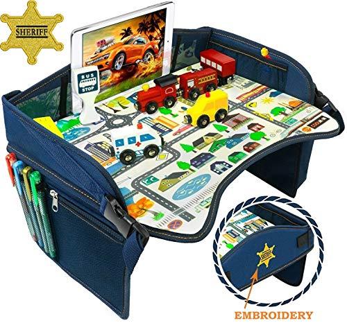 Smart Travel Tray – Ideal as Kids Travel Tray – Toddler Travel Tray & Baby Stroller Tray – Travel Activity Tray & Play Tray – Baby Snack Tray & Kid's Car Seat Tray - Play Table