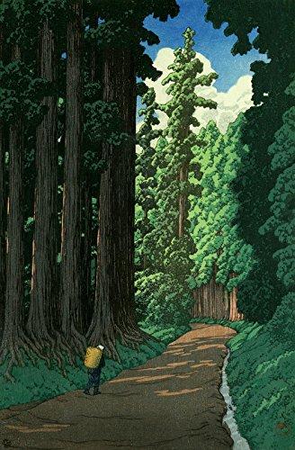 "Japanese Art Print ""Road to Nikko"" by Kawase Hasui"