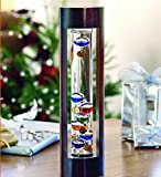 Wind & Weather Galileo Indoor Thermometer with Cherry Finished Wood Frame for Desk or Tabletop Decor - 14.5 H x 4 W