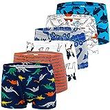 Auranso Boys Boxer Briefs Underwear Dinosaur 6 Pack Multicolored02 2-3 Years