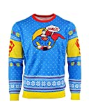 Superman Ugly Christmas Sweater 'Bad Guys Get Coal' for Men Women Boys and Girls - XS