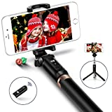 Selfie Stick,JSAUX Bluetooth Handheld Tripod 3 in 1 Foldable Extendable Selfie Stick Monopod with Detachable Remote for Samsung Galaxy S8 S9 Plus,Note 8 5,iPhone X 8 7 6s 6, Nexus, LG, Moto & More