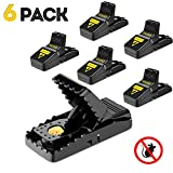 Mouse trap, Mouse Traps That Work Rat Trap Outdoor Indoor Best Snap Traps for Mouse/Mice Safe and Reusable 6 Pack Humane Mouse and Rat Traps