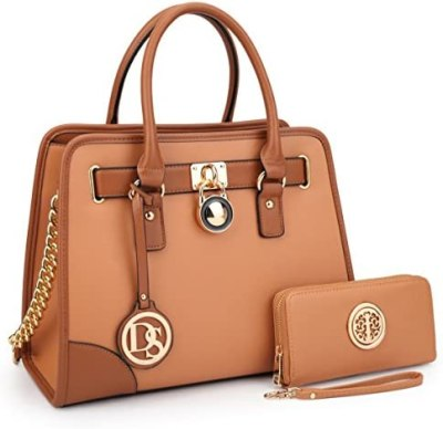 DASEIN Women Handbags Top Handle Satchel Purse Shoulder Bag Briefcase Hobo Bag Set 2pcs