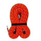 MudFog UIAA Certified 200ft Nylon Kernmantle Red Static Rope 10.5mm - for Rock Climbing, Rappelling, Canyoneering, Rescue, Hauling and Mountaineering
