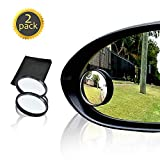Drive Safe Blind Spot Mirrors HD 2' Fixed Round Glass Blind Spot Mirror 2-Pack | Ultimate Rear View Mirror for All Cars | Eliminate and Improve Your Blind Spots | Ideal for Parallel Parking
