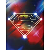 Westland Giftware Lighted Canvas Wall Art, Superman Shield, 12 by 16""