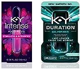 K-Y Pleasure Kit with Intense Pleasure Gel Woman's Lube (0.34 oz) & Duration Gel Male Genital Desensitizer (36 Pumps/0.16 oz) 1 ea