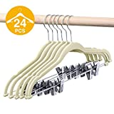 HOUSE DAY Plastic Pant Hangers with Clips, Skirt Hangers,Slack Hangers Clip Hangers for Pants