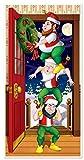 Beistle Christmas Elves Door Cover, 30-Inch by...