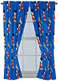 Jay Franco Disney Mickey Mouse Trophy 63' Inch Drapes 4 Piece Set - Beautiful Room Décor & Easy Set Up - Window Curtains Include 2 Panels & 2 Tiebacks (Official Disney Product)