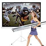 New Portable 100' Projector 16:9 Projection Screen Tripod Pull-up Matte White TS