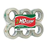 Duck HD Clear Packaging Tape, 6 per Pack (DUC299016)