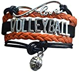 Volleyball Charm Bracelet - Infinity Love Adjustable Charm Bracelet with Volleyball Charm for Volleyball Players
