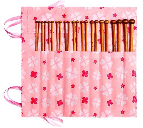 Bamboo Knitting Needles Set Knitting Needle Case Knitting Kits for Beginners
