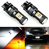 JDM ASTAR Extremely Bright 3030 Chipsets White/Yellow 3157 3155 3457 4157 Switchback LED Bulbs with Projector For Turn Signal Lights(Brightest Switchback bulb on the market)
