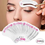 24 PCS Different Styles Eyebrow Shaping Stencils, Kalolary Eyebrow Grooming Stencil Kit Shaping Templates DIY Tools