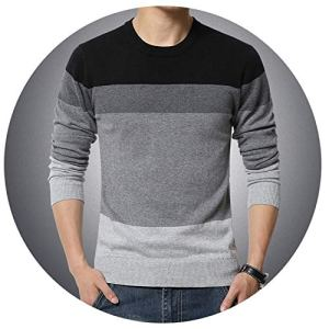 NanGate M-3XL Sweater Men Pullover Men Round Neck Patchwork Quality Knitted Male Sweaters Plus Size