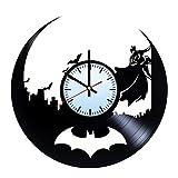 Baden Baden Batman Hero Vinyl Record Wall Clock - Get unique of home room wall decor - Gift ideas for him and her - Unique Art Design