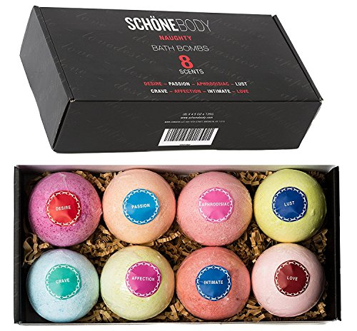 Schöne NAUGHTY Romantic Bath Bombs 8 (Pcs)