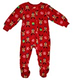 Family PJs Reindeer Infant Footed Pajamas Red 24 MO