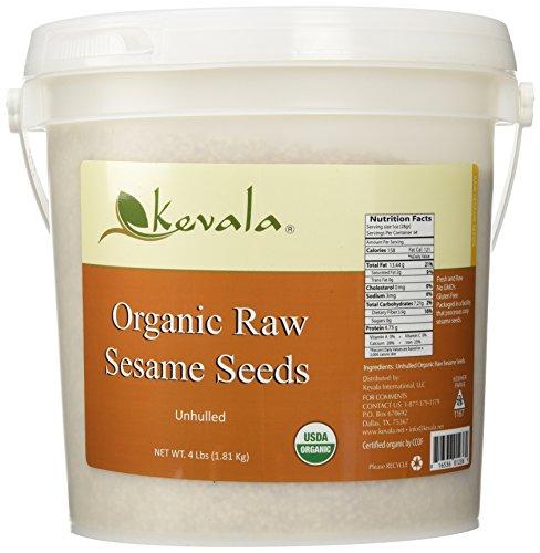 Kevala Organic Raw Sesame Seeds 4Lbs (WHITE)