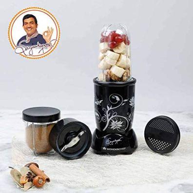 Wonderchef-Nutri-Blend-22000-RPM-Mixer-Grinder-Blender-Stainless-Steel-Blades-2-Unbreakable-Jars-2-Years-Warranty-400-W-Black-Online-Recipe-Book-By-Chef-Sanjeev-Kapoor