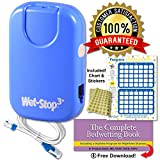 Wet Stop 3 Bedwetting Alarm (BLUE) 6 Alarms & Vibration, Enuresis Alarm, Incontinence, Potty Training, 100% SATISFACTION GUARANTEED