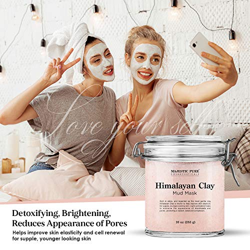 Himalayan Clay Mud Mask for Face and Body by Majestic Pure - Exfoliating and Facial Acne Fighting Mask - Reduces Appearance of Pores, 10 oz 6
