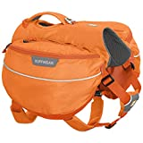 RUFFWEAR Hiking Pack for Dogs, Medium Sized Breeds, Adjustable Fit, Size: Medium, Orange Poppy, Approach Pack, 50102-801M