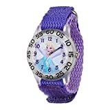 Disney Kids' W001791 Elsa Time Teacher Watch with Purple Band
