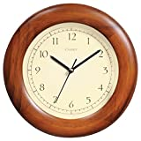 Chaney 75171 8-inch Poplar Wood Wall Clock
