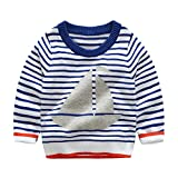 Product review for Mud Kingdom Little Boys Knitted Sweater Pullover Boat Print Stripe