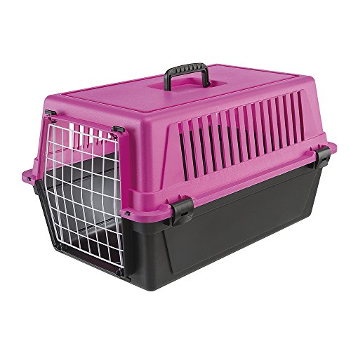 Ferplast Atlas 20 Cat and Dog Carrier, Fuchsia Pink