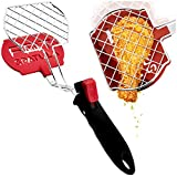 Fat Spatula Kitchen Tongs & Flipper 3-In-1 Turner Tool - Nonstick Nylon & Stainless Steel Strainer Grid for Unique Heat-Resistant Grease Busting Cooking - Fun Multitool, Multifunctional Home Gadgets